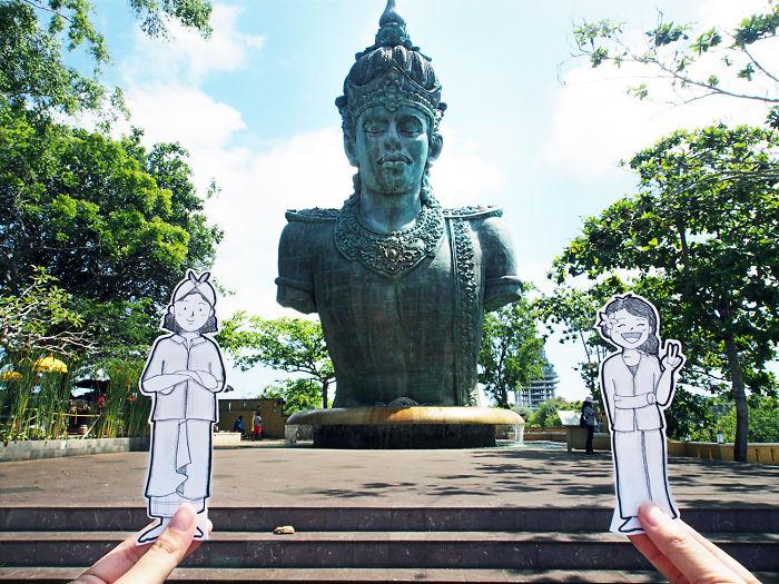 A Picture With Vishnu At Garuda Wisnu Kencana, A Cultural Park In Bali