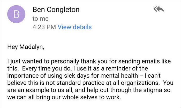 woman-email-mental-health-day-ceo-response-madalyn-parker-14