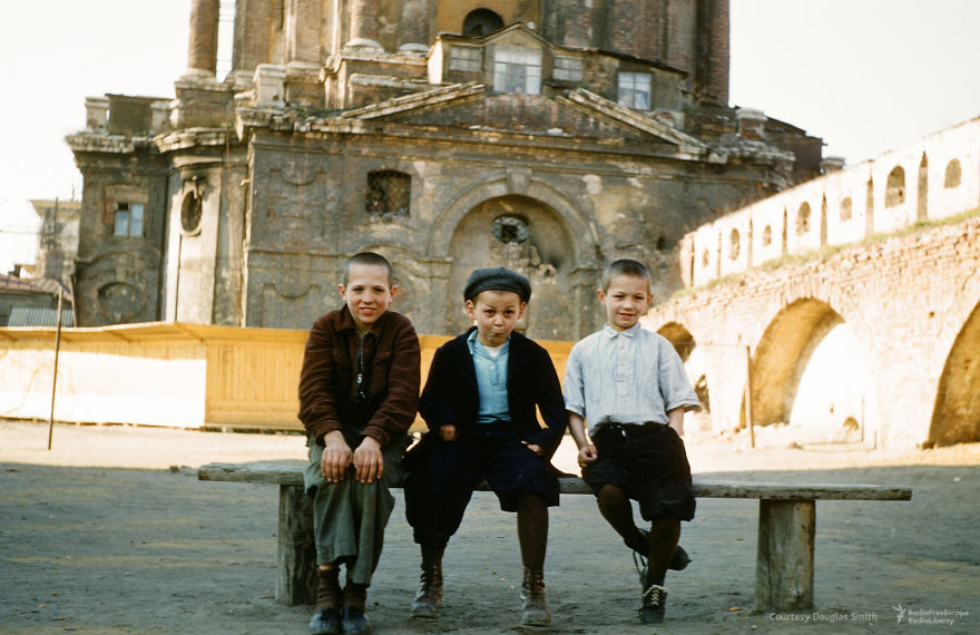 Kids Goofing For Martin's Camera In Novospassky Monastery