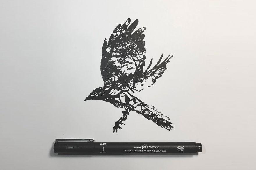 Wild Silhouette Series - Thrive (Raven)