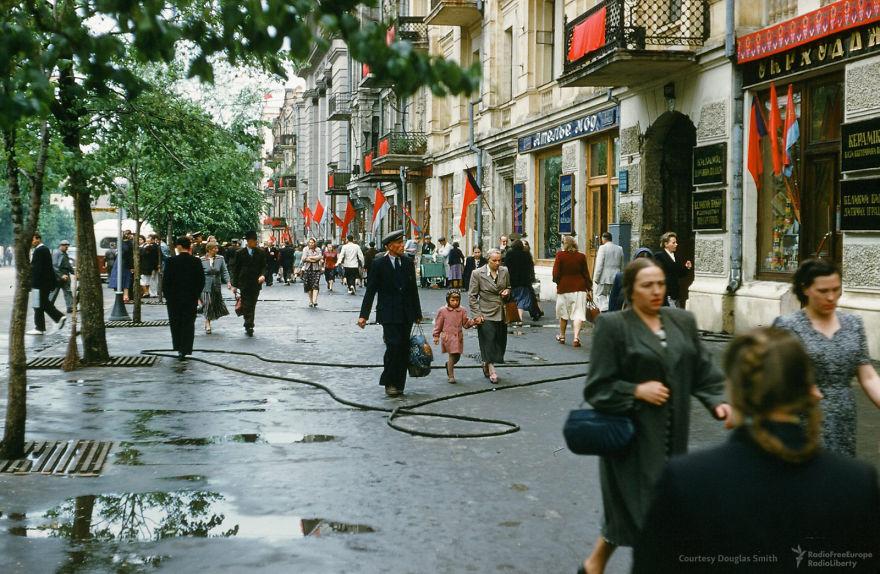 A Street In Central Kiev, Ukraine