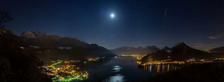 Iridium Over Annecy Lake ©2014 Philippe Jacquot