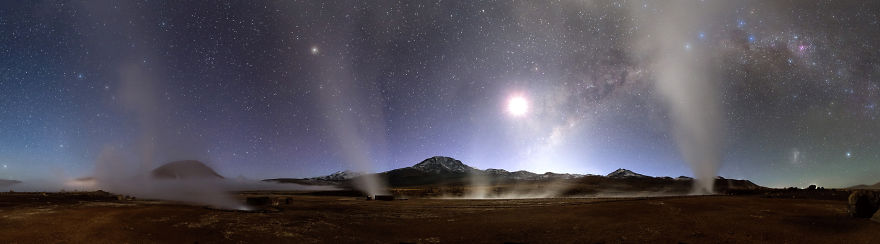 Night At Tatio Geysers ©2014 Jm Lecleire