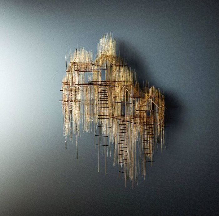 Artist Crafts Minimalist Structures From Wires; And They Would Make Your Heart Melt