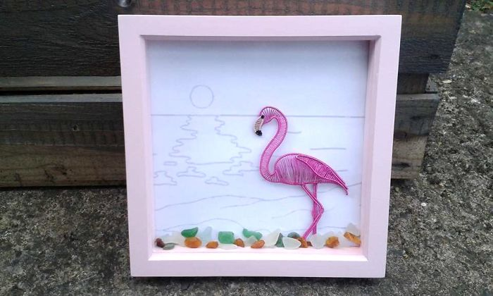 I Create Unique Wire Wrapped Framed Art