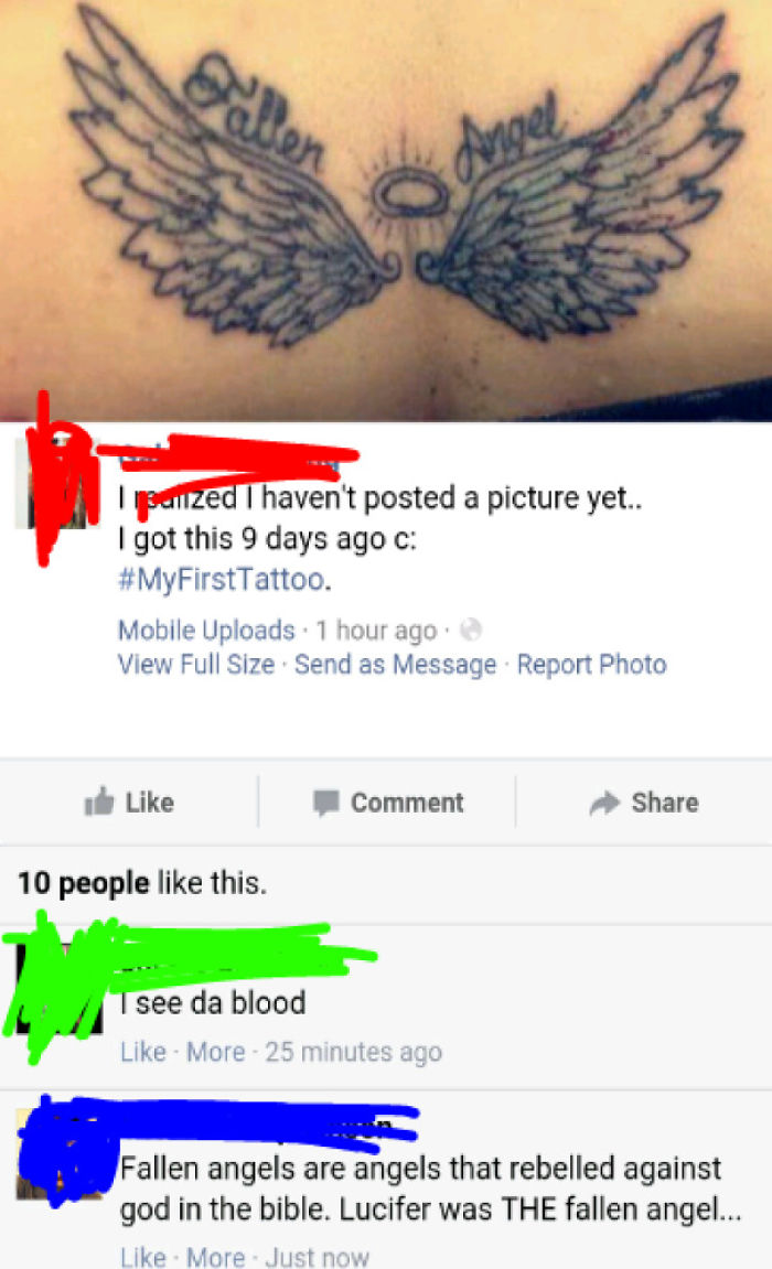 Girl Who Posts A Lot Of Religiously Passionate Statuses Ended Up Showing Off Her Tattoo