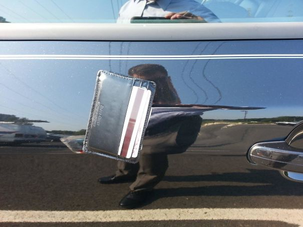 I Thought I Had Lost My Wallet By Leaving It On The Roof Of My Car... Two Hours Later I Learned It Could Do A Trick