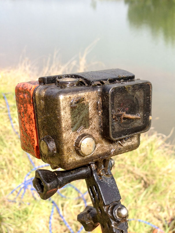Two Months Ago I Lost My GoPro In A Dam On My Parents Farm. Today I Found It