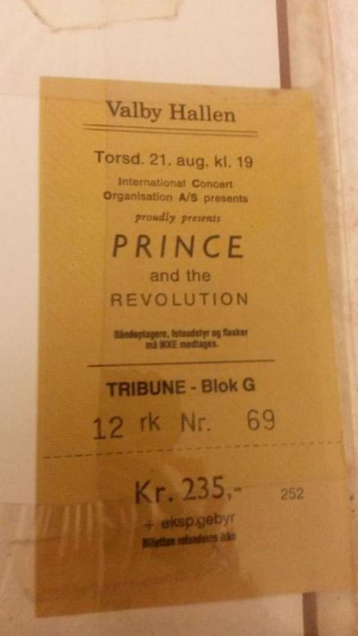 In 1986 My Friend Bought A Ticket To See Prince Live In Copenhagen, He Lost It And Couldn't Go. 29 Years Later He Finds The Unused Ticket In The Back Off A Book