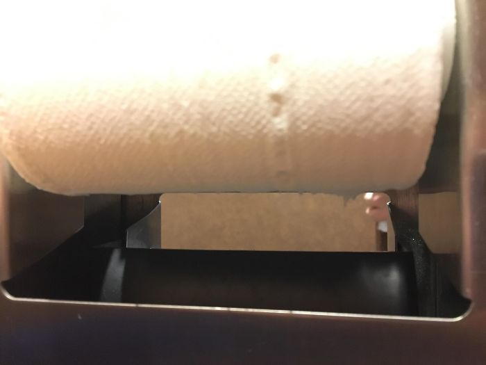 This Toilet Roll Holder Lets You See Through To The Other Stall