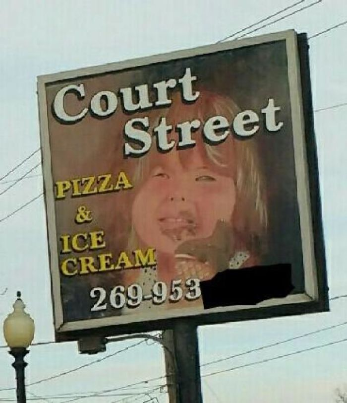 For Some Reason, This Sign Doesn't Make Me Want Ice Cream...