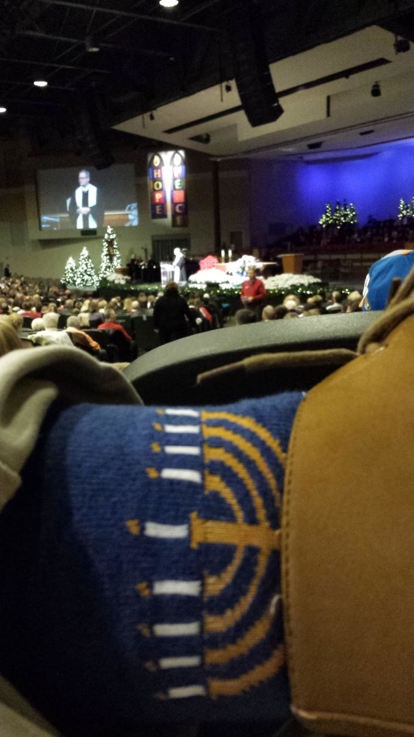 Wearing These At My Church's Cristmas Eve Service