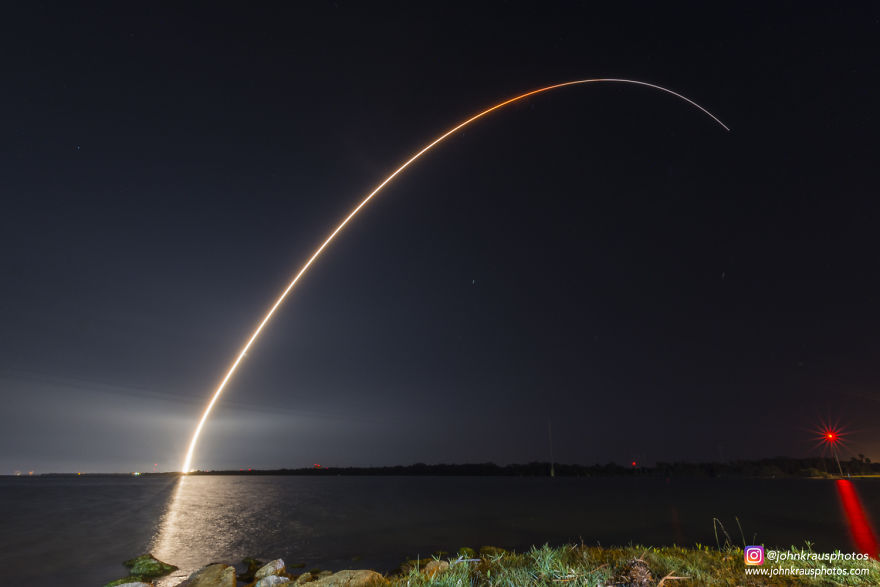 My Long Exposure Photograph Of Tonight's Delta Iv Rocket Launch