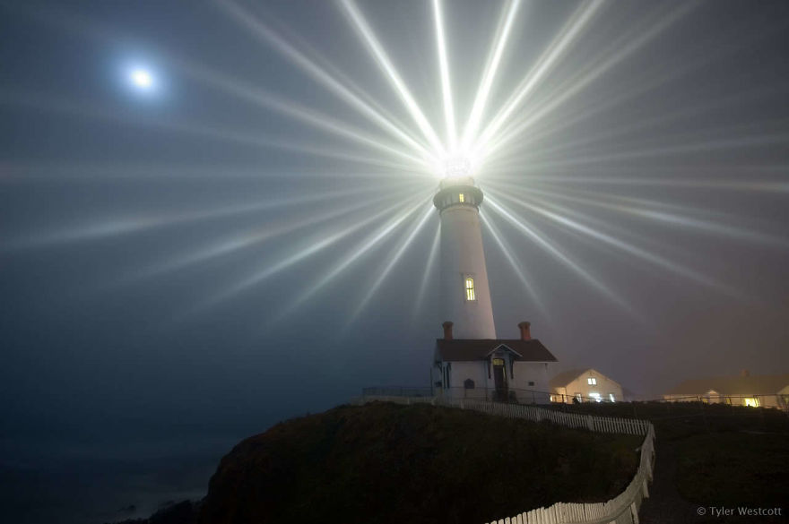 Long Exposure Of A Lighthouse