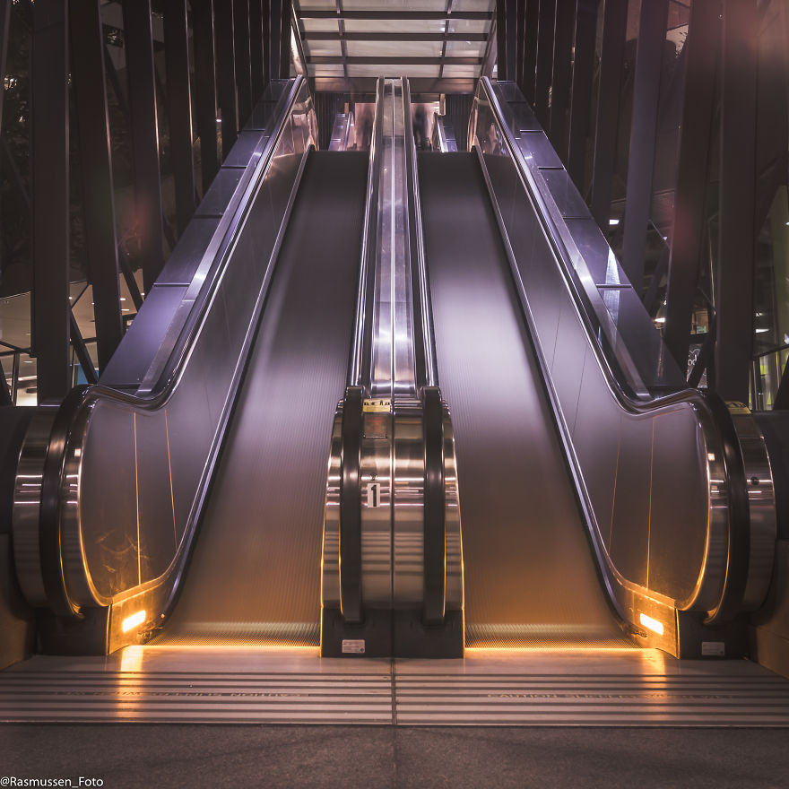 Escalator Long Exposure