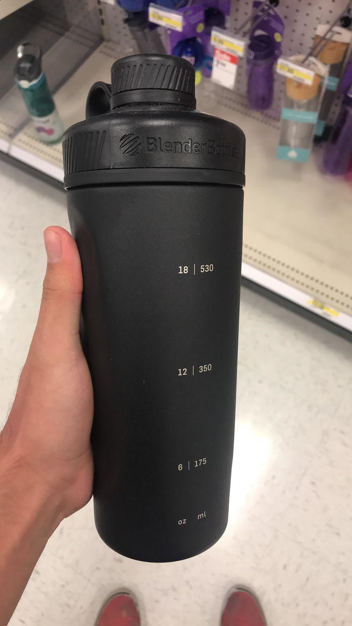 Botella opaca con medidas...