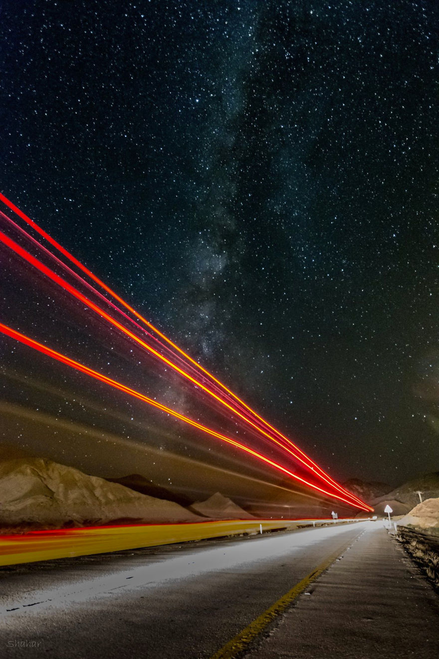 A Truck Passed In Front Of The Camera During A Long Exposure Shot
