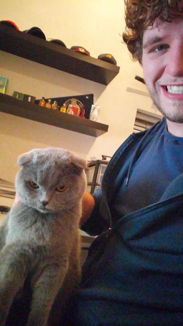 He Doesn't Like Selfies