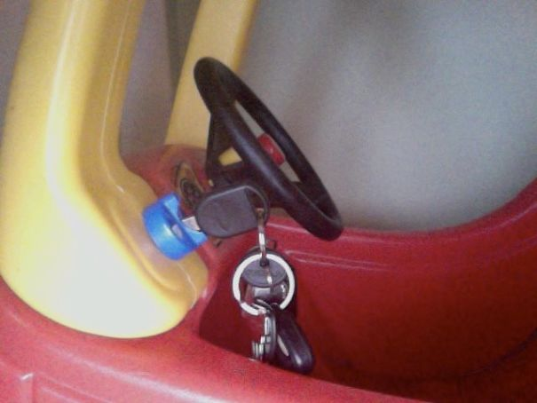 So My Brother Couldn't Find His Keys This Morning And Was Late For Work... His 2-Year-Old Son Had Borrowed Them