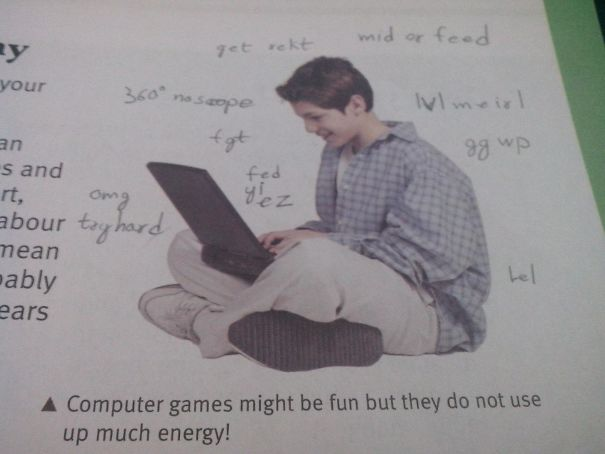 Found This In My 15 Yo Brothers Computer School Book