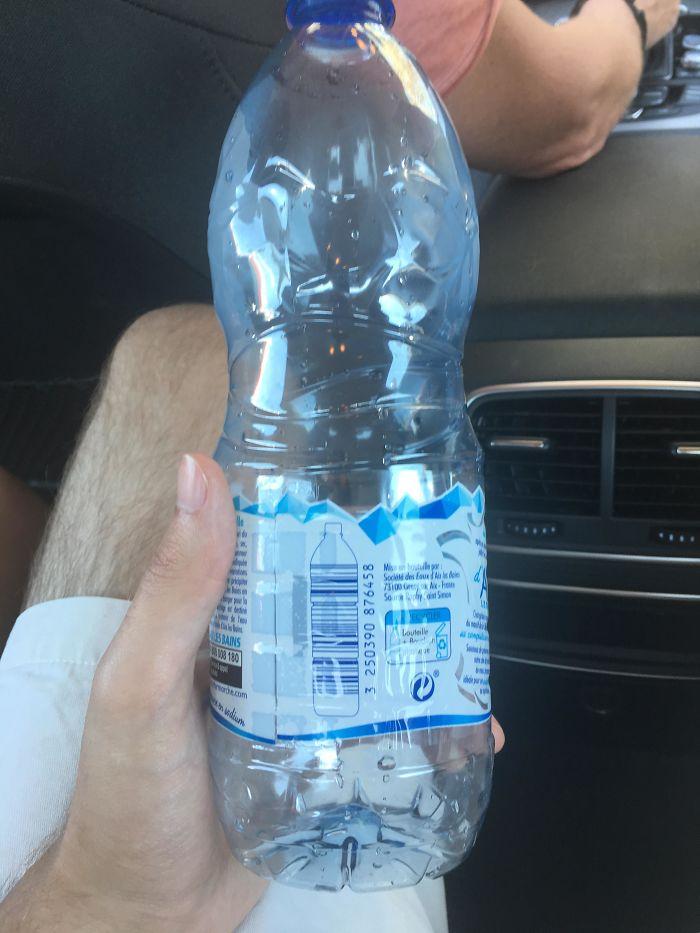 Water Bottle Bar Code On A Water Bottle