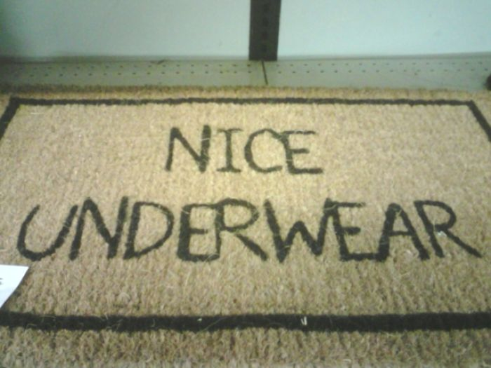 And The Award For Creepiest Door Mat Goes To