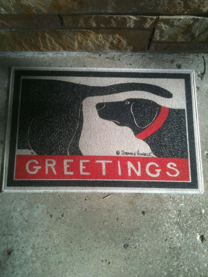 Door Mat At A Customers House I Delivered To Today.