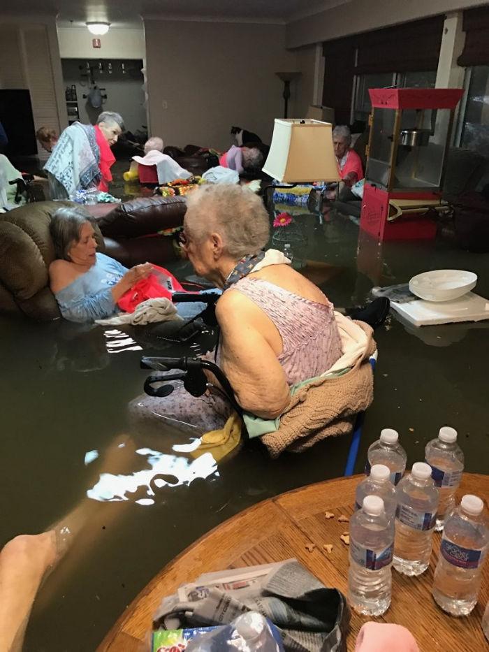 Seniors In La Vita Bella Nursing Home In Dickinson Texas Waiting To Be Rescued