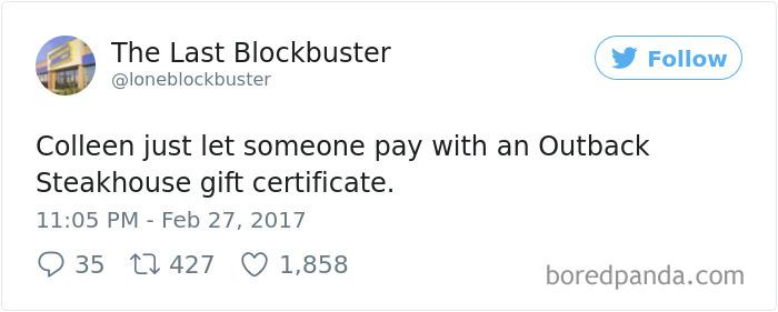 The Last Blockbuster Tweets