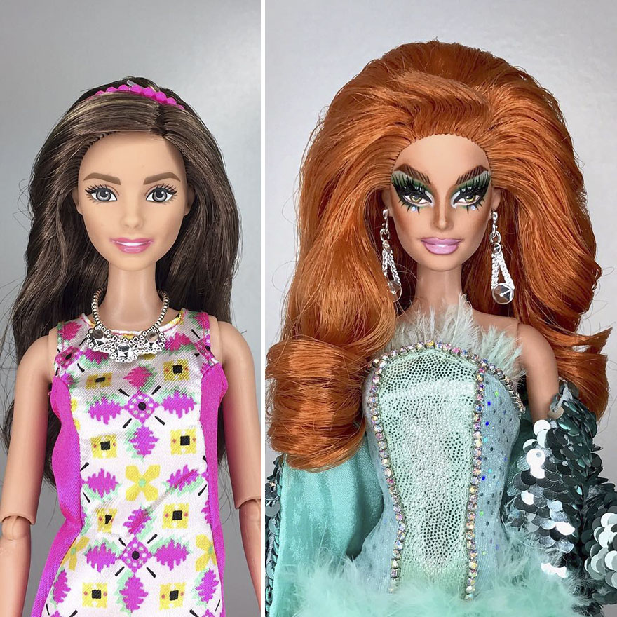 This Artist Turned Barbie Dolls Into Drag Queens From Rupaul S Drag