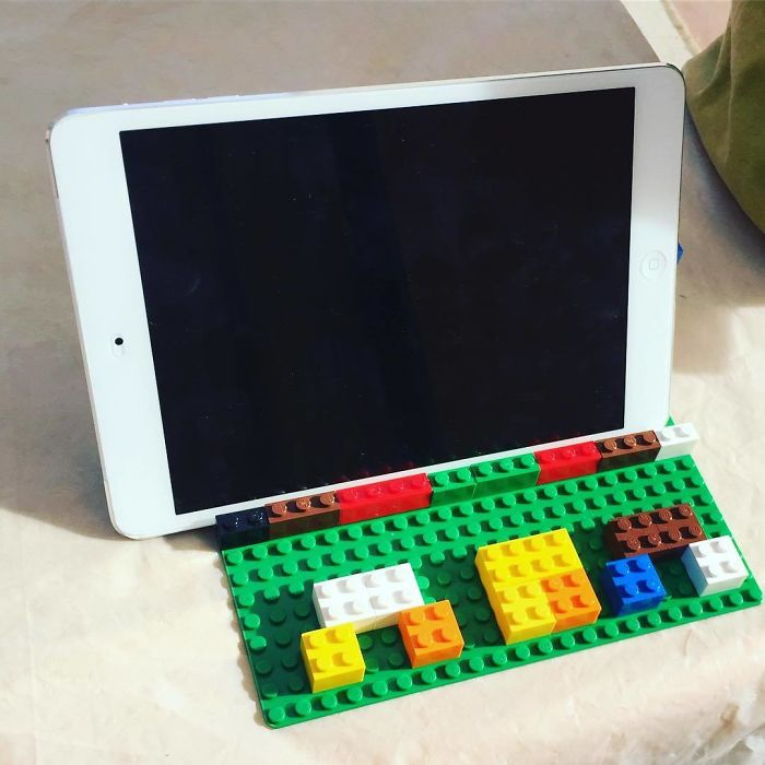 "I Asked For An iPad Holder For The Kitchen And Got A Lego One With ""Mom"" On It"