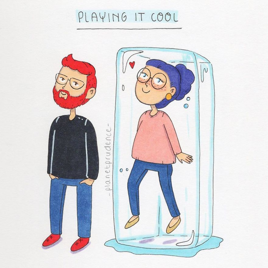 Tag A Friend Who Likes To Play It Cool 👇🏼🙋🏼💜. I'm Actually Not The Kind Of Person Who Plays It Cool Or Hard To Get, Because I'm No Good At It 😂. Also, My Boyfriend Knows Me Too Well.. ~ I Made This Drawing Based On An Article From Nour From Www.thenouryouknow.com 💜
