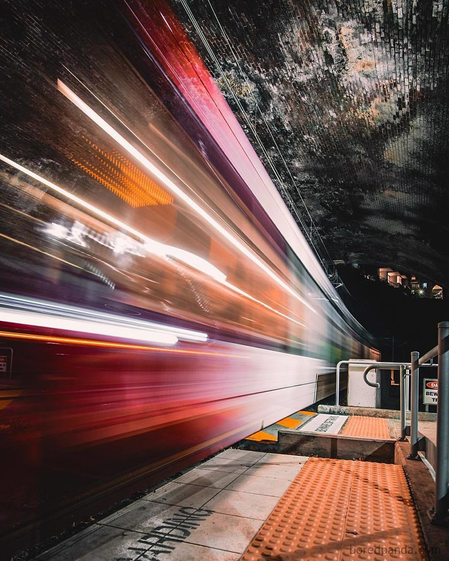 Long Exposure Of Speed Zones
