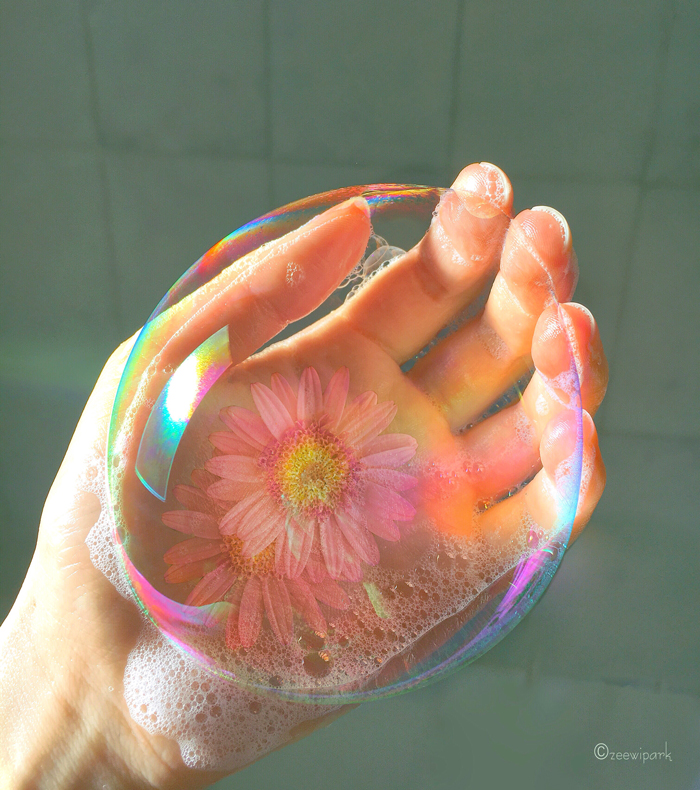 Bubbles And Flowers Allow Me To Reproduce The Moods And The Colours I See Or Want To See