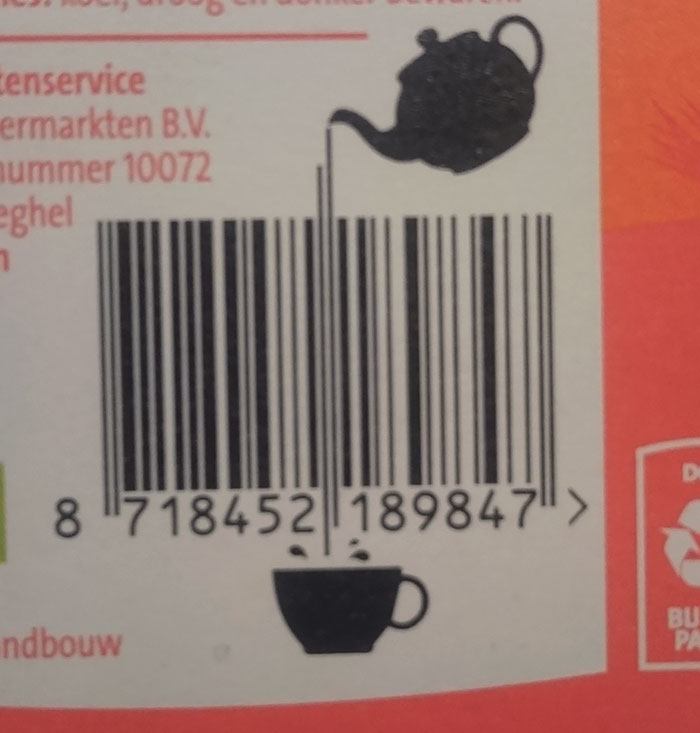 This Tea Package Barcode