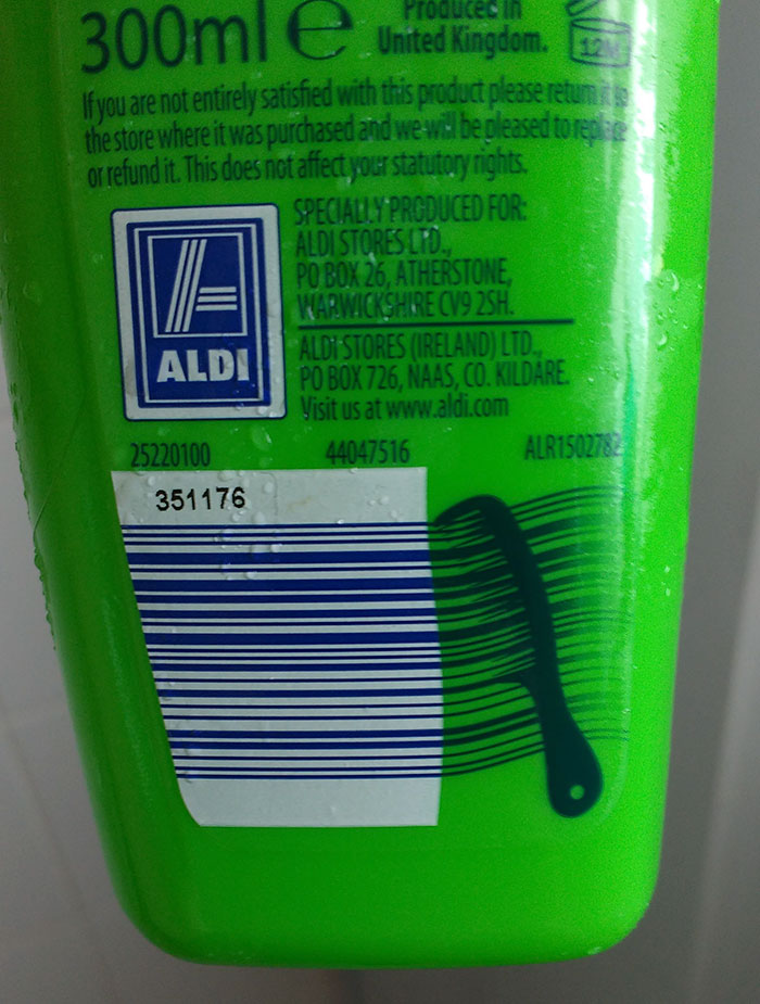 The Bar Code On This Shampoo Bottle