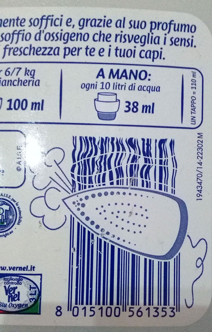 Laundry Detergent Barcode