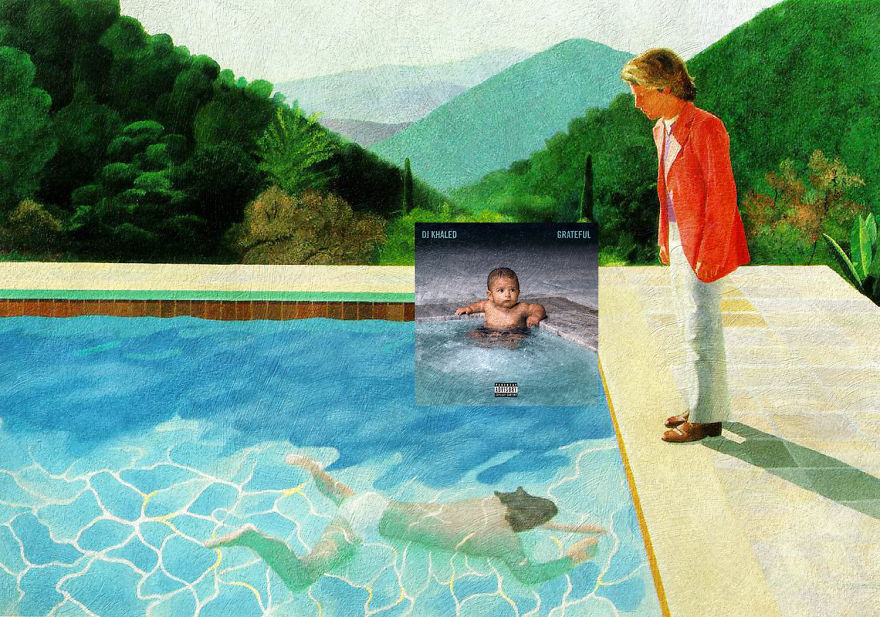 Grateful By Dj Khaled + Portrait Of An Artist (pool With Two Figures) By David Hockney