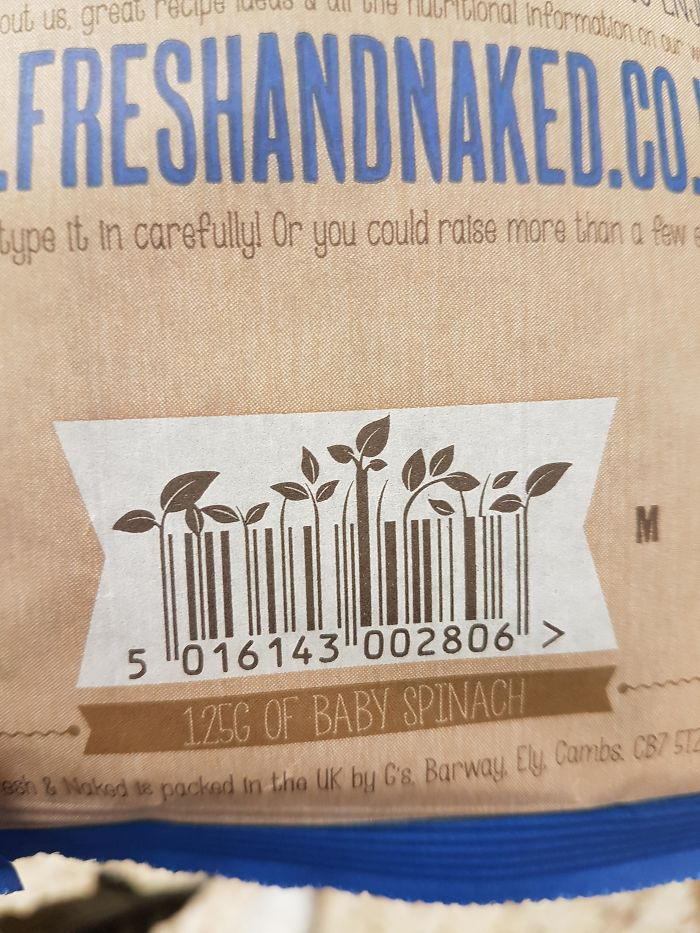 This Barcode On A Pack Of Baby Spinach