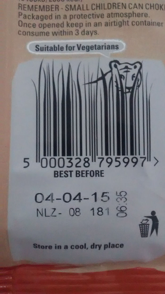 The Barcode On My Bag Of Crisps Is A Tiger In Long Grass