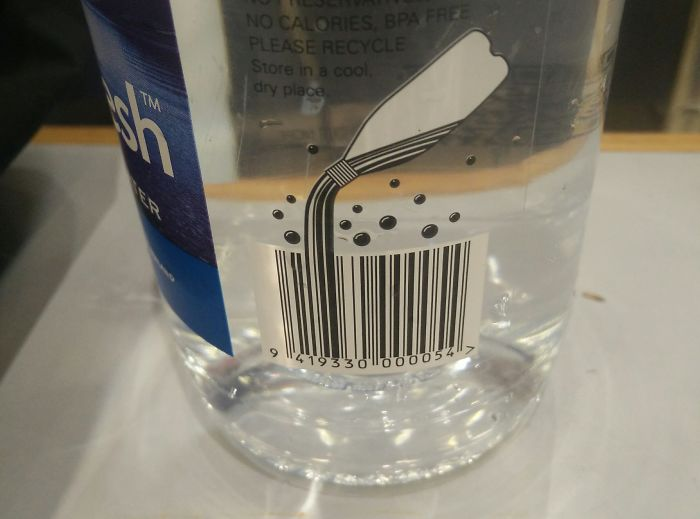 This Bar Code Is Poured Or Of A Bottle