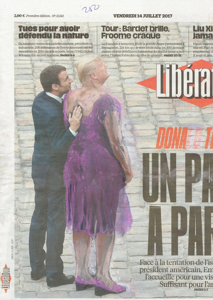 Zis Feels Ok? | Macron Welcoming Trump In Paris | Libération | Series Part III