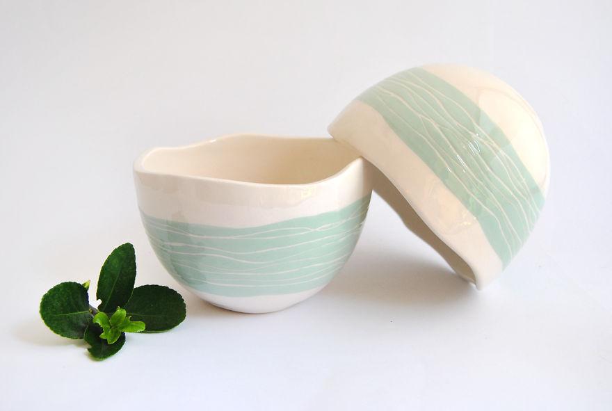 Green Spherical Planter