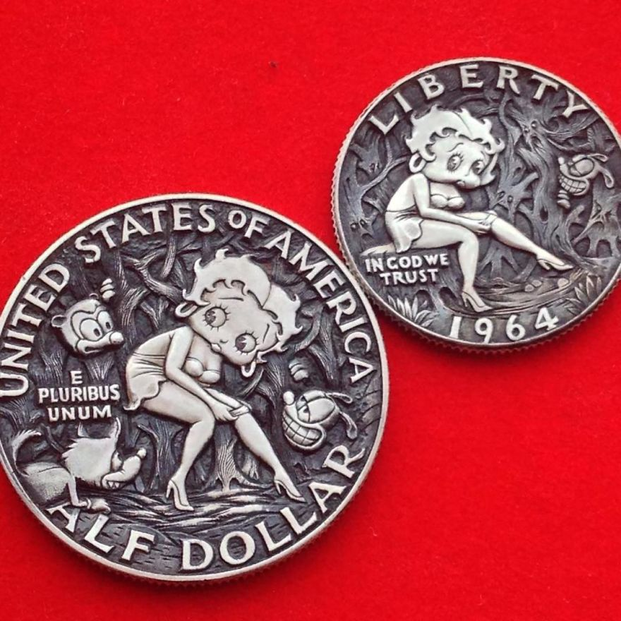 This Russian Artist Carves Old Coins To Give Them New Lives
