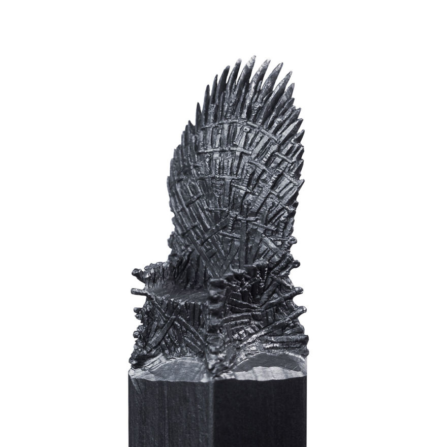 I turn pencil lead into miniature game of thrones sculptures bored