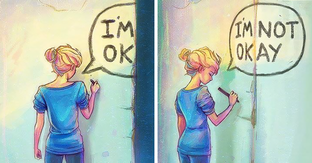 Illustrations With Deep Meanings Created By An Artist Struggling With Depression
