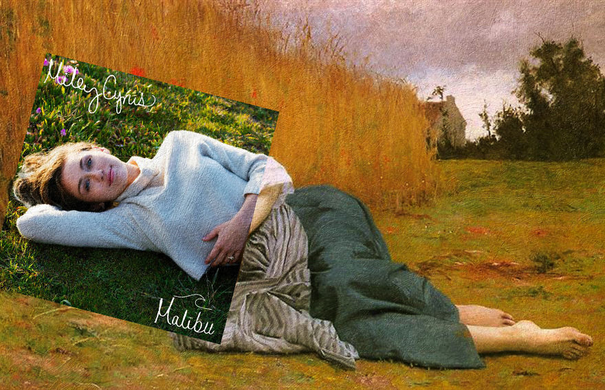 Malibu By Miley Cyrus + Rest In Harvest By William-adolphe Bouguereau