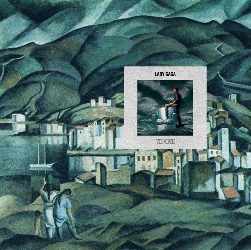 The Cure By Lady Gaga (single Cover Art) + Cadaques By Salvador Dali