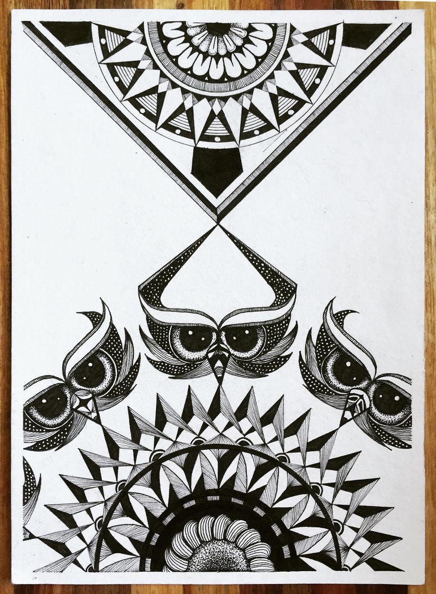 Mandala Madness Owling