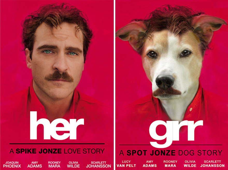 I Photoshop My Dog Into Movie Posters